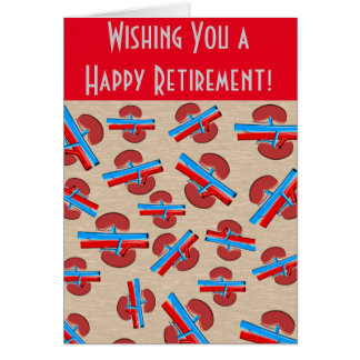 Retired Nephrologist Greeting Card Red