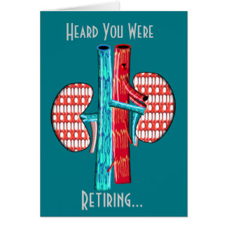 Retired Nephrologist Kidney Art Card