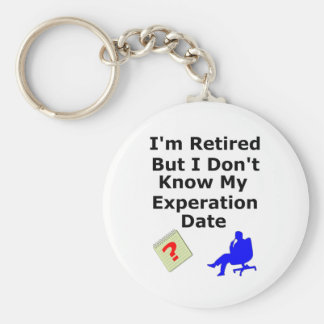 Retired No Experation Date Basic Round Button Key Ring