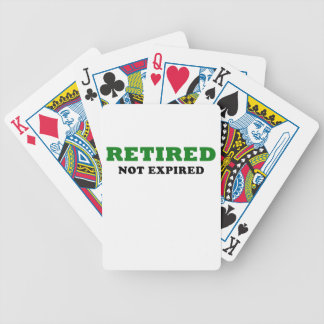 Retired Not Expired Bicycle Playing Cards
