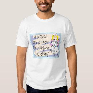 Retired Nurse Angel Art Cards & Gifts Shirt