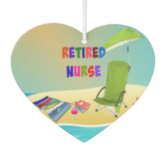 Retired Nurse, Fun in the Sun Car Air Freshener