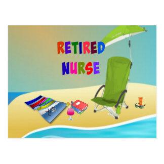 Retired Nurse, Fun in the Sun Postcard