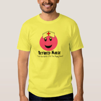 """Retired Nurse Gifts """"Happy Dance Pink Smiley"""" T-shirts"""