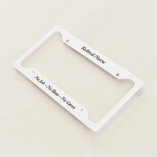 Retired Nurse Licence Plate Frame