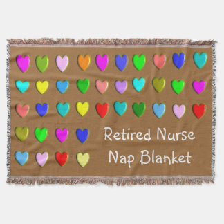 Retired Nurse Nap Blanket Hearts