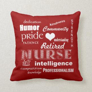Retired Nurse Pride-Attributes+Heart Cushion