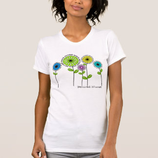 Retired Nurse T-Shirts Artsy Flowers