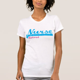 Retired Nurse T-Shirts Pink and Blue