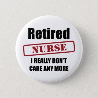 Retired Nurse (UK spell) 6 Cm Round Badge