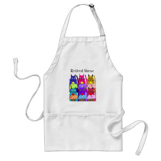 Retired Nurse Whimsical Cats Apron