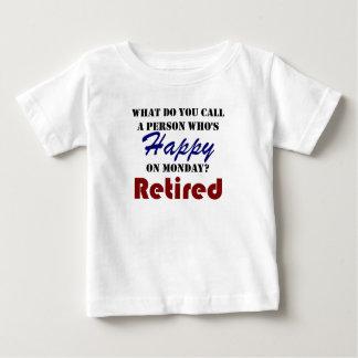 Retired On Monday Funny Retirement Retire Burn Baby T-Shirt