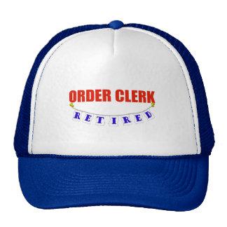RETIRED ORDER CLERK CAP