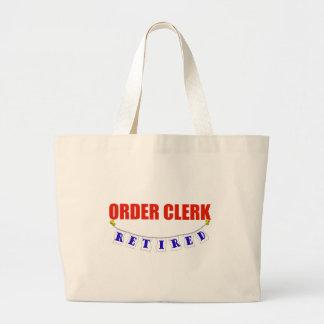 RETIRED ORDER CLERK JUMBO TOTE BAG