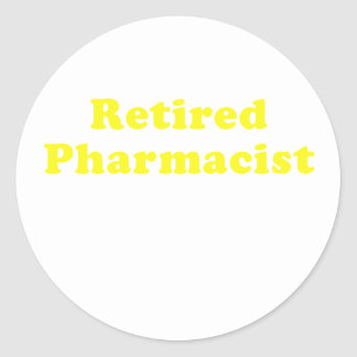 Retired Pharmacist Classic Round Sticker