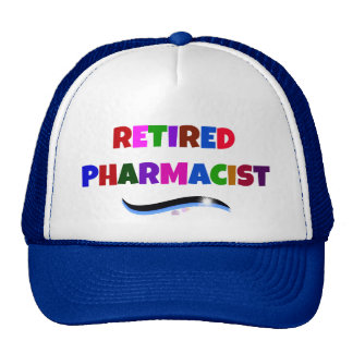 Retired Pharmacist, Colorful Text Design Cap
