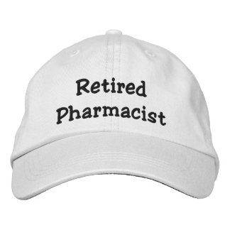 Retired Pharmacist Personalized Adjustable Hat