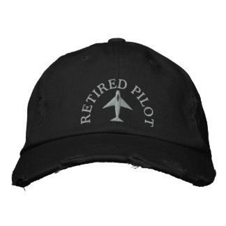 Retired Pilot Embroidered Hat