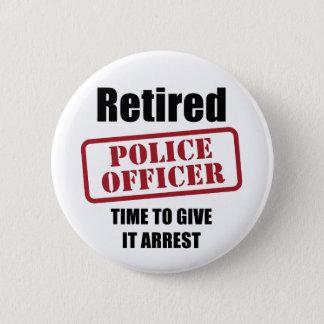 Retired Police Officer 6 Cm Round Badge