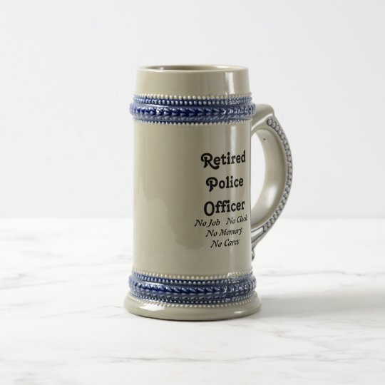 Retired Police Officer Beer Stein