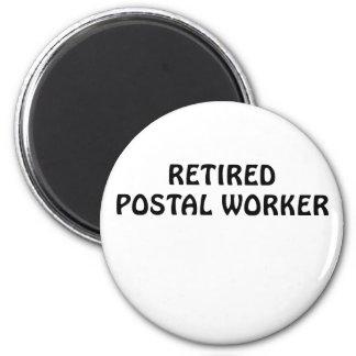 Retired Postal Worker 6 Cm Round Magnet