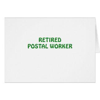 Retired Postal Worker Card