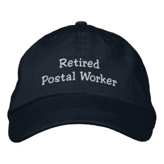 Retired Postal Worker Embroidered Cap