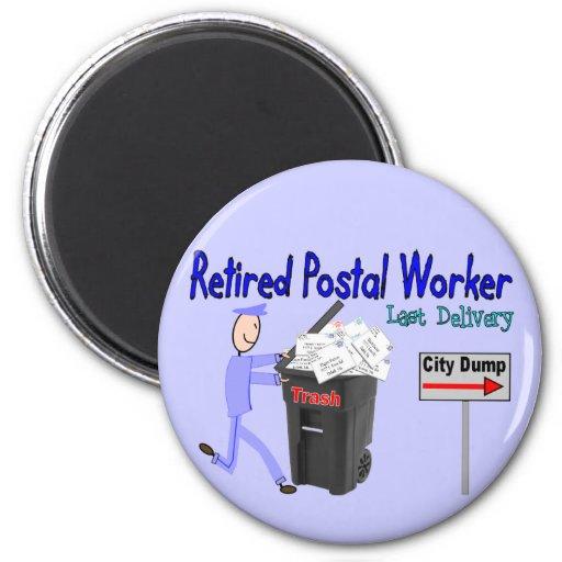 Retired Postal Worker Last Delivery Fridge Magnet