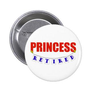 RETIRED PRINCESS 6 CM ROUND BADGE
