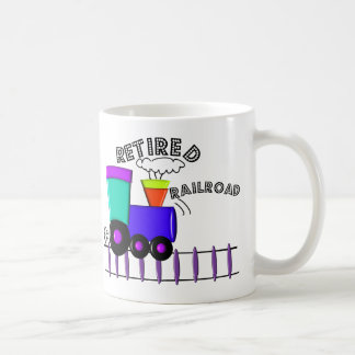 Retired Railroad Worker Gifts Basic White Mug