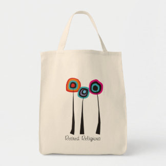Retired Religious Tote Bag Whimsical Flowers