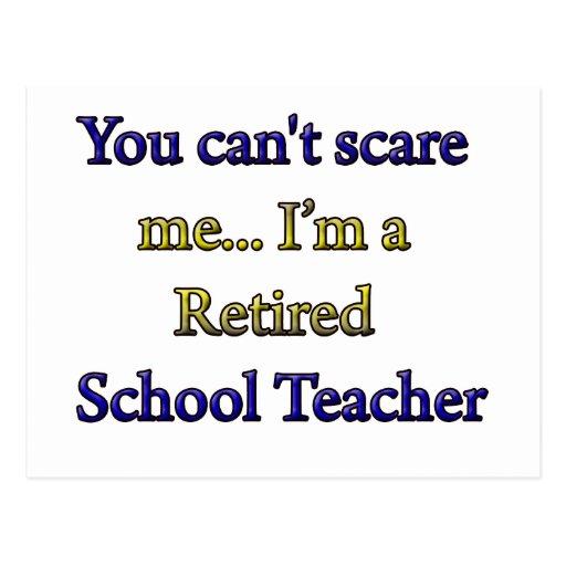 RETIRED SCHOOL TEACHER POST CARDS