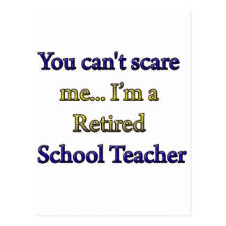 Retired School Teacher Postcard