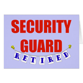 RETIRED SECURITY GUARD CARD