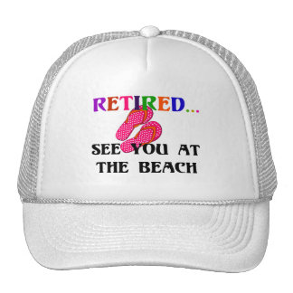 Retired - See You at the Beach, Pink Flip Flops Cap