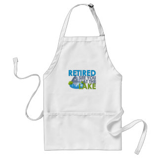 Retired See you at the lake FUNNY FISHING T-Shirt Standard Apron