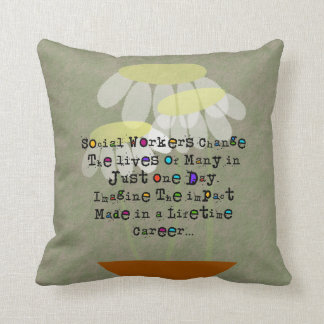 Retired Social Worker Pillow Quote #13