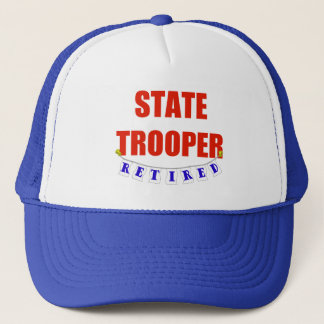 RETIRED STATE TROOPER TRUCKER HAT