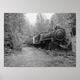 Retired Steam Train Poster