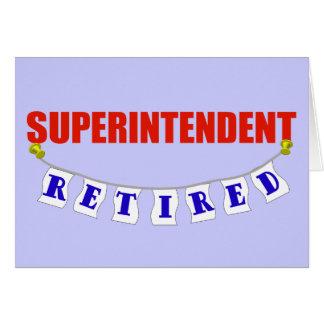 RETIRED SUPERINTENDENT CARD