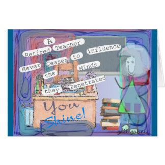 Retired Teacher Art Gifts Card