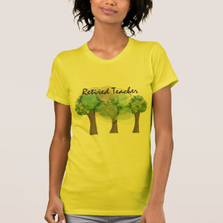 Retired Teacher Artsy Trees Design Gifts Tees