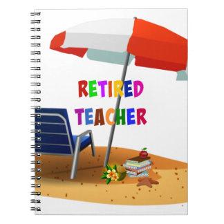 Retired Teacher, Beach Scene (revised) Notebook