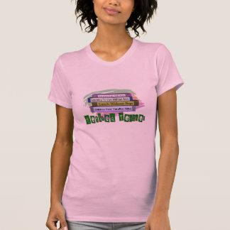Retired Teacher (Funny Stack of Books Design) Tee Shirt