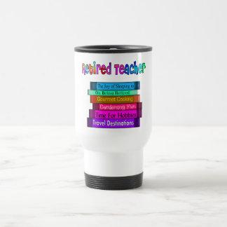 Retired Teacher Gifts Stack of Books Design Stainless Steel Travel Mug