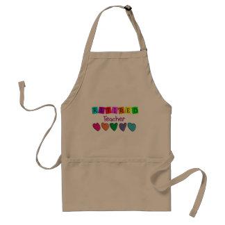 Retired Teacher Gifts Standard Apron