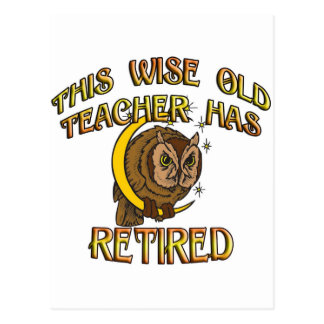 RETIRED TEACHER POST CARDS