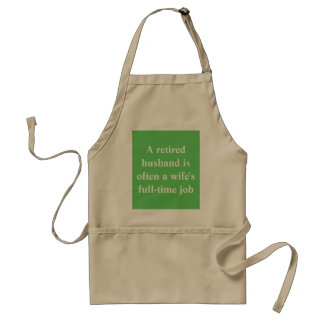 Retired text apron