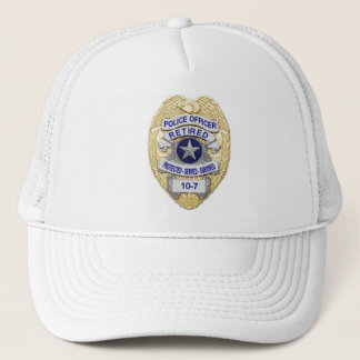 Retired - The Thin Blue Line Badge Trucker Hat