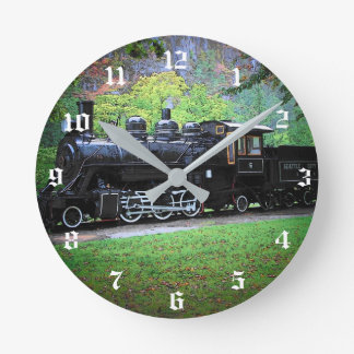 Retired Train Engine Round Clock